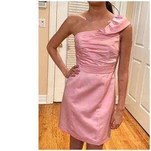 Alfred Angelo retro pink one shoulder party dress